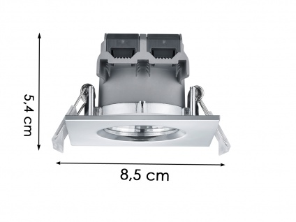 LED Einbaustrahler Decke 4er Set eckig dimmbar Chrom glänzend 5, 5W Deckenleuchte - Vorschau 5