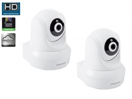 2er Wifi IP Überwachungskameras / Netzwerkkameras + App für IOS + Android