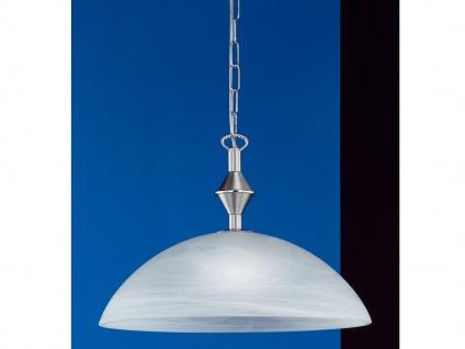Pendelleuchte Nickel matt, Chrom Glas weiß Honsel-Leuchten AMSTERDAM