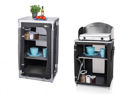 2x Robuster Camping Schrank faltbar + wetterfeste Camping Küchenbox Windschutz