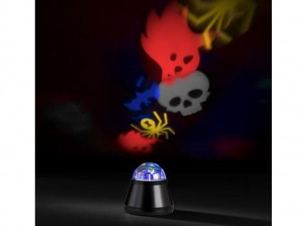 2x LED Tischleuchte / Nachtlicht projiziert Halloweenbilder Multicolor mit Motor - Vorschau 3