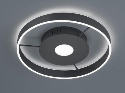 Große LED Deckenleuchte Anthrazit Ringleuchte 50cm mit Fernbedienung Nachtlicht