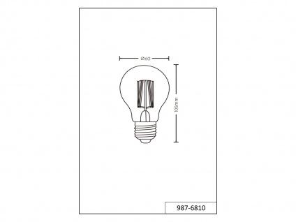 Switch Dimmer LED Leuchtmittel mit E27 Fassung mit 8 Watt und 806 Lumen Warmweiß - Vorschau 5