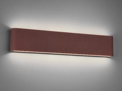 LED Außenwandlampe mit UP and DOWN Rostoptik Breite 46, 5cm - Hausbeleuchtung