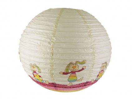 Papier Lampenschirm bunt für Kinderzimmer Rabbit Lampion Kugel Ballon Lampe - Vorschau 2