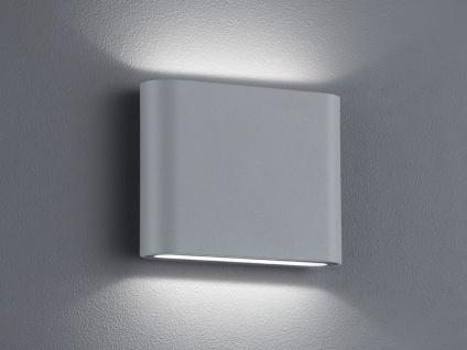 Trio LED Wandleuchte Uplight Downlight THAMES titan, Wandlampe außen / innen