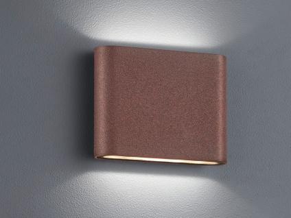 LED Außenwandlampe mit UP and DOWN Rostoptik Breite 11, 5cm - Hausbeleuchtung