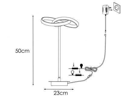LED Nachttischleuchte in Blattsilber-Optik 2er Set H. 50cm verstellbar Esszimmer - Vorschau 4