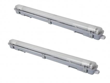 2er Set wasserdichte T8 LED Deckenleuchten 65, 5cm für Keller, Garage & Hobbyraum