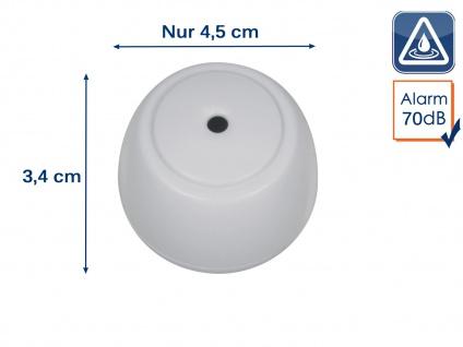 Mini Wassermelder Wasserwarner Wasserwächter 70dB Wasseralarm - Küche Bad Keller