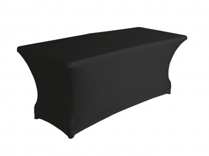 Robuster Klapptisch Kunststoff 180x70cm mit Stretch Husse - schwarz Gartentische - Vorschau 2