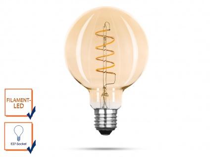 LED Leuchtmittel G95 Globe3 Watt 150 Lumen 2000 Kelvin, E27-Sockel Filament LED