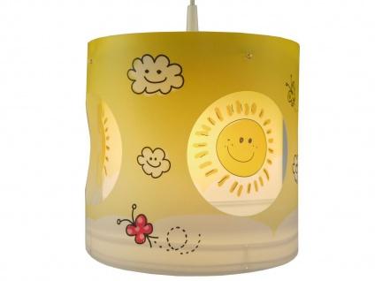 Kinder Pendelleuchte drehend Lampenschirm Motiv Sonne - Kinderzimmer Lampe Decke - Vorschau 3