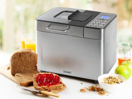 Brotbackautomat Edelstahl bis 1000g + Zusatz Knethaken für Brot Kuchen Pizzateig