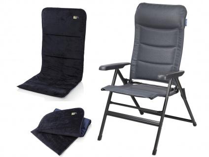 Leichter Alu Campingstuhl verstellbarerCamping Relaxsessel mit weichem Sitzbezug
