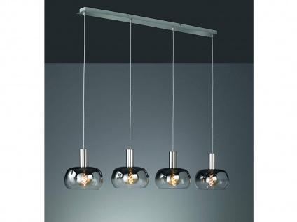 Dimmbare LED Pendelleuchte mehrflammig mit 4 Rauchglasschirmen, Esszimmerleuchte - Vorschau 1