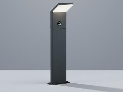 LED Pollerleuchte mit Bewegungsmelder Anthrazit 50cm - Sockelleuchte Wegeleuchte