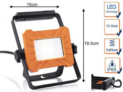 Tragbarer 10Watt LED Baustrahler mit Aufhängung - Arbeitslampe & Baustellenlampe
