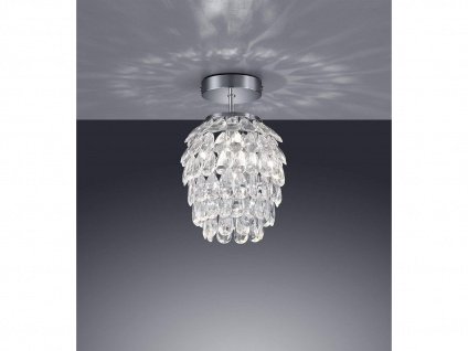 1 flammige Designer Deckenleuchte Lampenschirm Ø20cm mit Acryl Kristallbehang