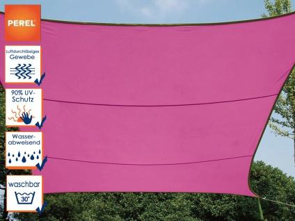 Wasserabweisendes Sonnensegel rechteckig 6m² rosa, Sonnenschutz Terrasse Balkon