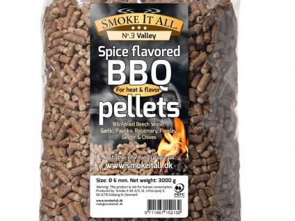 BBQ Grill Pellets Räucherpellets Buchenholz mit Gewürzen 3, 0 kg - Vorschau 4