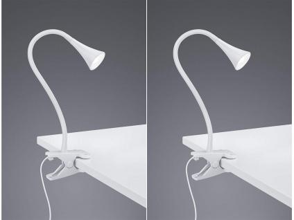 2er SET LED Klemmleuchten flexibel Schwanenhalslampe in weiß Schreibtischlampe