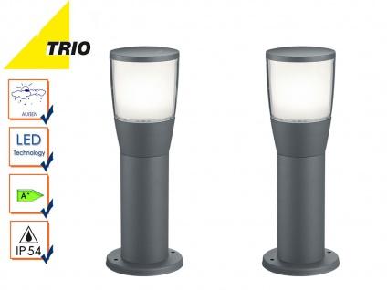 2 Stk. Trio LED Wegeleuchten Sockelleuchten SHANNON anthrazit, Außenbeleuchtung