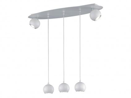 Grosse LED Hängeleuchte bis 150cm höhenverstellbar, 2 dreh+schwenkbare Spots