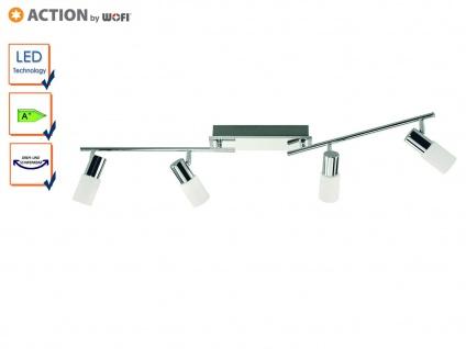 LED Deckenleuchte schwenkbar, Glaszylinder weiß, Action by Wofi