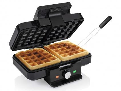 2in1 Doppel Waffeleisen & Gabel eckig für dicke Belgische Waffeln Waffle maker