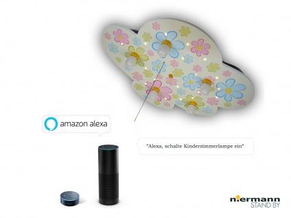 Kinder Deckenleuchte Wolkenlampe Blumen mit Zugschalter, Amazon Echo kompatibel