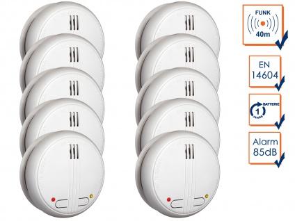 10er-Set Funkrauchmelder 40m Reichweite bis 20 Melder vernetzbar, Rauchmelder