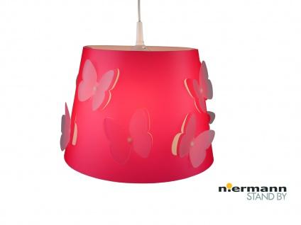 Kinderzimmer Deckenleuchte Lampenschirm SCHMETTERLING mit 2 Lagen Lichteffekt