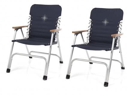 SET für 2 Personen stabiler klappbarer Campingtisch höhenverstellbar Regiestühle - Vorschau 3