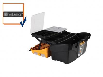 Werkzeugkiste Werkzeugkasten Werkzeugkoffer Kunststoff 434x250x238mm OMC17