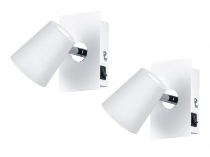 LED Wandstrahler 2er Set Weiß matt Spot schwenkbar 6W - Schlafzimmerleuchten
