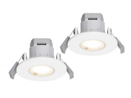 LED Einbaustrahler Decke 2er Set rund Aluminium Weiß 5, 5W IP65 - Badleuchten