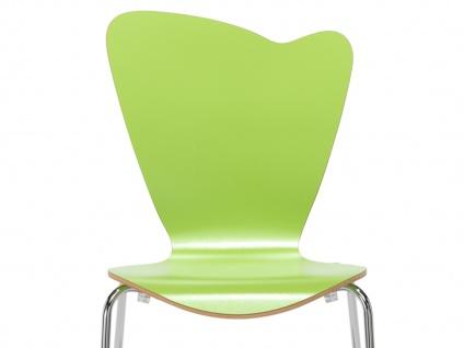 Design Stuhl HEART in grün, Stapelstuhl Esszimmerstuhl Bistrostuhl Schalenstuhl - Vorschau 3