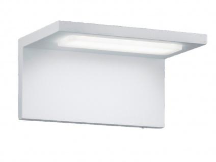 Design LED Außenwandleuchte Weiß, moderne Terrassenbeleuchtung Wand, Außenlampen - Vorschau 2