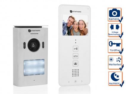 Video Türsprechanlage für Einfamilienhaus - 2 Draht Gegensprechanlage mit Kamera