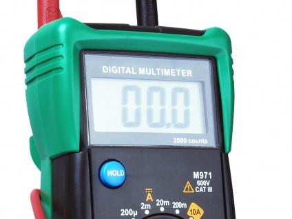Multimeter Spannungsprüfer Voltmeter Meßgerät AC/DC-Spannung Widerstand - Vorschau 2