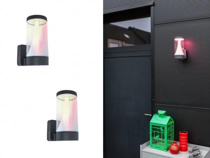 LED Wandleuchten 2er SET für den Außenbereich mit smarthome Farbwechsel ALU IP54