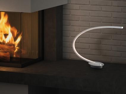 LED Tischleuchte gebogen SOLO Metall ALU gebürstet Höhe 43cm Ausladung 44cm - Vorschau 3