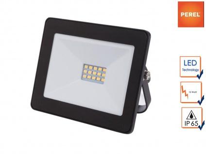 10W LED Baustrahler klein, IP65 für Außenbereich, Fluter Strahler Scheinwerfer