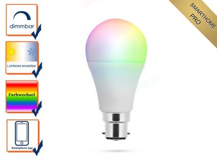 Intelligente B22 LED Glühbirne Smarthome PRO - dimmbar & RGB Farbwechsel per App