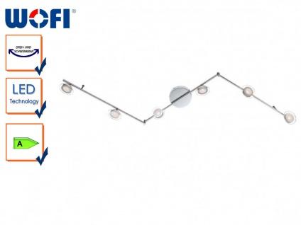 6-flammige LED-Deckenleuchte modern, schwenkbar, Wofi-Leuchten