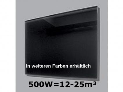 500W Infrarot-Glaspaneel schwarz, 90x60cm, für Räume 12-25m³