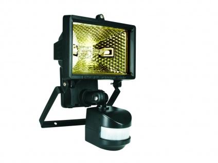 Halogenstrahler / Flutlicht 120W mit Bewegungsmelder, schwarz, IP44