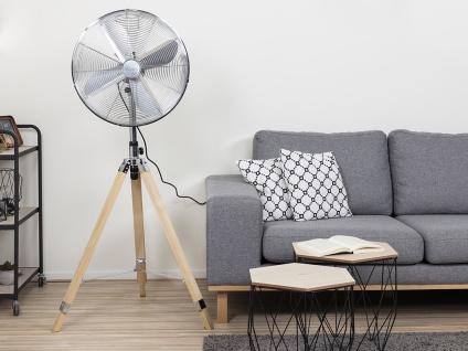 Oszillierender Standventilator mit Holzstativ höhenverstellbar Ø 45cm fürs Büro