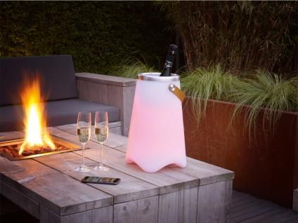 LED Tischlampe mit Farbwechsellicht Bluetooth Lautsprecher Musik Sektkühler